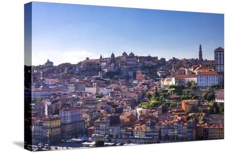 Oporto/Porto Rio Duero District of Colorful Buildings-Terry Eggers-Stretched Canvas Print