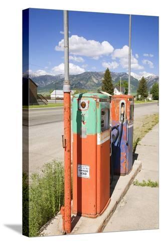 Multi-Colored Antique Gas Tanks, Idaho-Joseph Sohm-Stretched Canvas Print