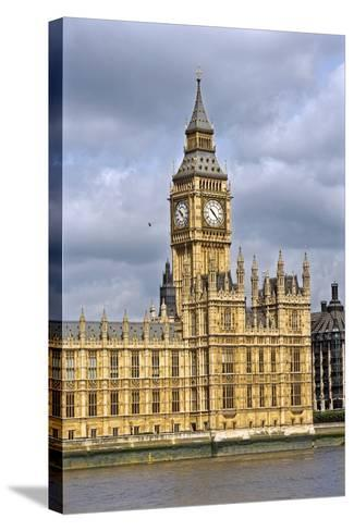 House of Parliament and Big Ben-Massimo Borchi-Stretched Canvas Print