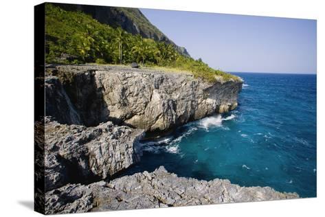 Coast of Samana Peninsula near Puerto El Fronton-Massimo Borchi-Stretched Canvas Print