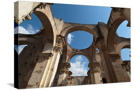 Arches in Old Cathedral Ruins in Antigua in Guatemala-Sergio Pitamitz-Stretched Canvas Print