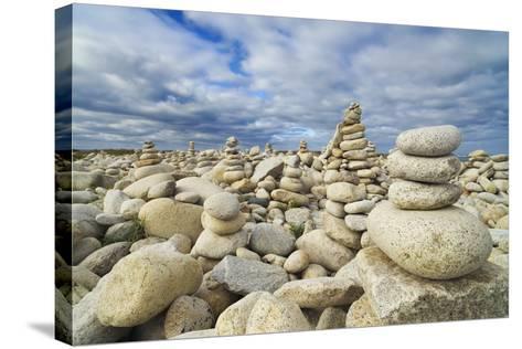 Rocks at Pebble Beach, Trebeurden, Cote De Granit Rose, Cote D'armor, Brittany, France-Frank Krahmer-Stretched Canvas Print