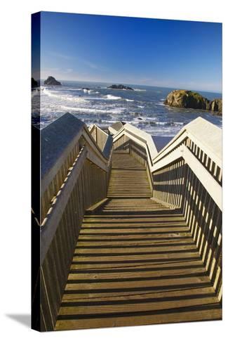 Bandon Beach, Oregon, USA-Craig Tuttle-Stretched Canvas Print