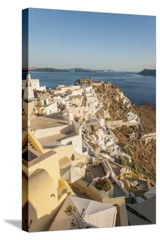 Oia, View of the Village-Guido Cozzi-Stretched Canvas Print