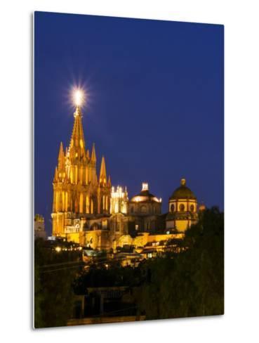 Evening Lights Parroquia Archangel Church San Miguel De Allende, Mexico-Terry Eggers-Metal Print