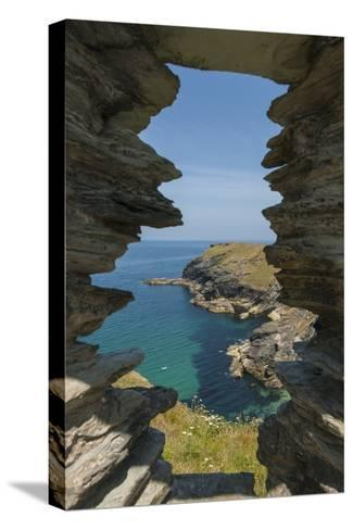 Tintagel Castle-Guido Cozzi-Stretched Canvas Print