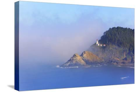 Fog Adds Beauty to Heceta Head Lighthouse, Oregon Coast, Pacific Ocean-Craig Tuttle-Stretched Canvas Print