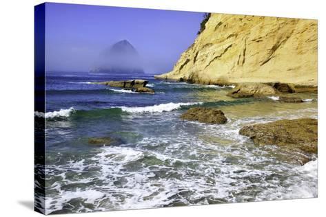 Haystack Rock, Cape Kiwanda, Oregon Coast, Pacific Ocean, Pacific Northwest-Craig Tuttle-Stretched Canvas Print