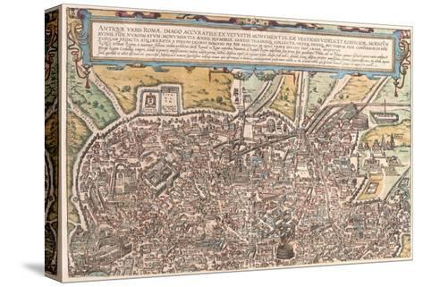 Map of Ancient Rome from Civitates Orbis Terrarum--Stretched Canvas Print
