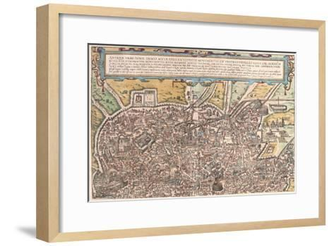 Map of Ancient Rome from Civitates Orbis Terrarum--Framed Art Print
