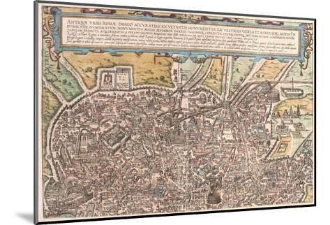 Map of Ancient Rome from Civitates Orbis Terrarum--Mounted Giclee Print