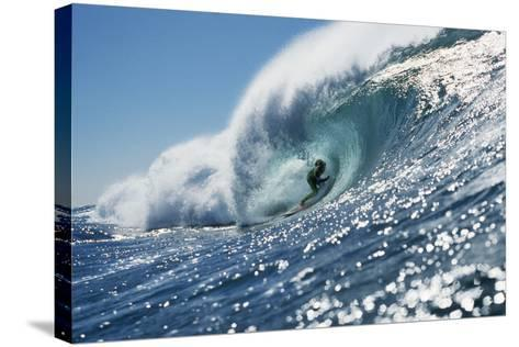 Surfer Riding a Wave-Rick Doyle-Stretched Canvas Print