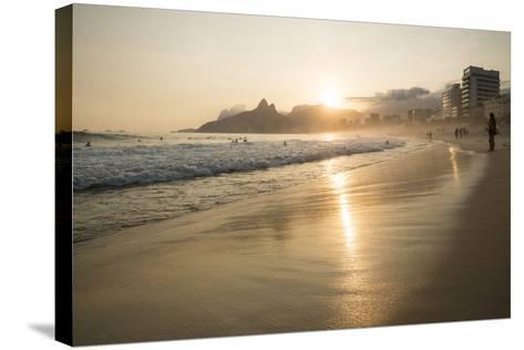 Ipanema Beach at Sunset, Rio De Janeiro, Brazil, South America-Ben Pipe-Stretched Canvas Print