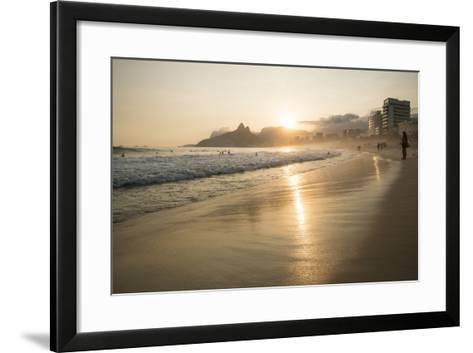 Ipanema Beach at Sunset, Rio De Janeiro, Brazil, South America-Ben Pipe-Framed Art Print