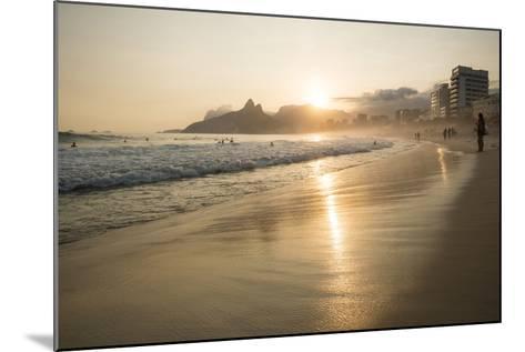 Ipanema Beach at Sunset, Rio De Janeiro, Brazil, South America-Ben Pipe-Mounted Photographic Print