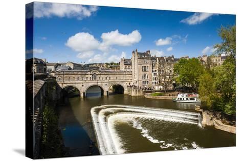 Pulteney Bridge over the River Avon, Bath, Avon and Somerset, England, United Kingdom, Europe-Matthew Williams-Ellis-Stretched Canvas Print