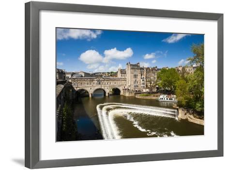 Pulteney Bridge over the River Avon, Bath, Avon and Somerset, England, United Kingdom, Europe-Matthew Williams-Ellis-Framed Art Print