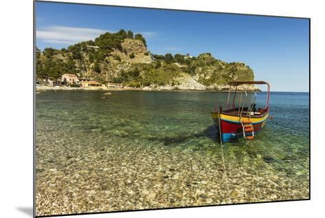 Excursion Boat Moored on Pretty Isola Bella Bay in This Popular Northeast Tourist Town-Rob Francis-Mounted Photographic Print