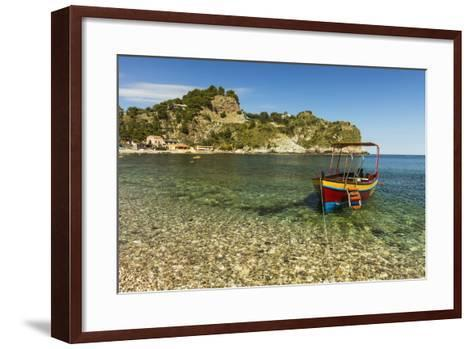 Excursion Boat Moored on Pretty Isola Bella Bay in This Popular Northeast Tourist Town-Rob Francis-Framed Art Print