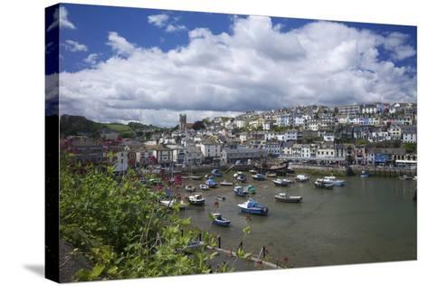 Brixham Harbour, Devon, England, United Kingdom, Europe-Rob Cousins-Stretched Canvas Print