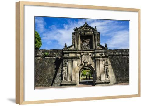 Entrance to the Old Fort Santiago, Intramuros, Manila, Luzon, Philippines, Southeast Asia, Asia-Michael Runkel-Framed Art Print