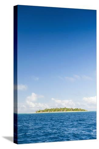 Little Island with a White Sand Beach in Haapai, Haapai Islands, Tonga, South Pacific, Pacific-Michael Runkel-Stretched Canvas Print