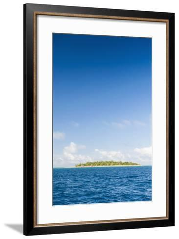 Little Island with a White Sand Beach in Haapai, Haapai Islands, Tonga, South Pacific, Pacific-Michael Runkel-Framed Art Print