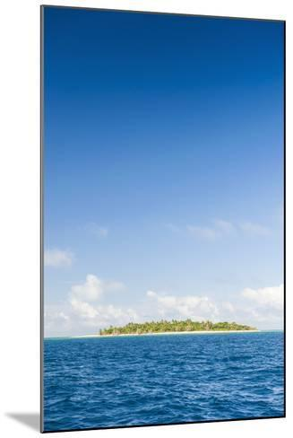 Little Island with a White Sand Beach in Haapai, Haapai Islands, Tonga, South Pacific, Pacific-Michael Runkel-Mounted Photographic Print