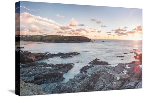 Rocky Coast at Treyarnon Bay at Sunset, Cornwall, England, United Kingdom, Europe-Matthew Williams-Ellis-Stretched Canvas Print