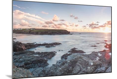 Rocky Coast at Treyarnon Bay at Sunset, Cornwall, England, United Kingdom, Europe-Matthew Williams-Ellis-Mounted Photographic Print