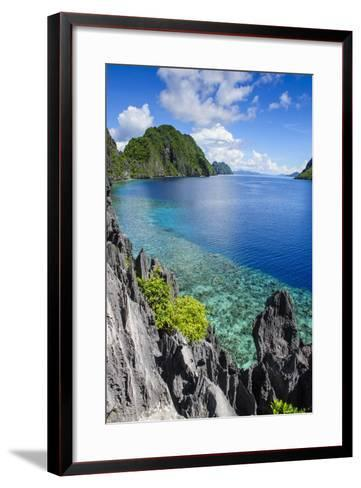 Crystal Clear Water in the Bacuit Archipelago, Palawan, Philippines, Southeast Asia, Asia-Michael Runkel-Framed Art Print