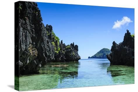 Crystal Clear Water in the Bacuit Archipelago, Palawan, Philippines, Southeast Asia, Asia-Michael Runkel-Stretched Canvas Print