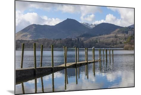 Lake Derwentwater, Barrow and Causey Pike, from the Boat Landings at Keswick-James Emmerson-Mounted Photographic Print