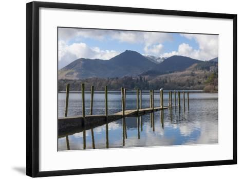 Lake Derwentwater, Barrow and Causey Pike, from the Boat Landings at Keswick-James Emmerson-Framed Art Print
