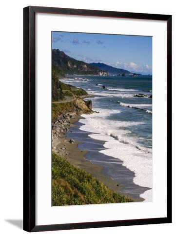 The Untouched West Coast of South Island Between Greymouth and Westport, West Coast, South Island-Michael Runkel-Framed Art Print