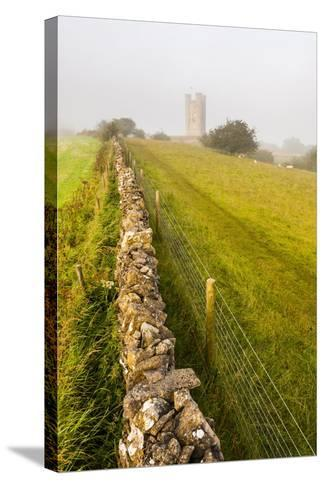 Misty Sunrise at Broadway Tower, a National Trust Property at Broadway, the Cotswolds-Matthew Williams-Ellis-Stretched Canvas Print