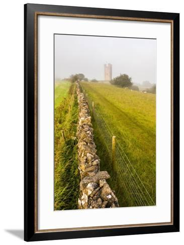 Misty Sunrise at Broadway Tower, a National Trust Property at Broadway, the Cotswolds-Matthew Williams-Ellis-Framed Art Print