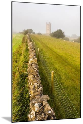 Misty Sunrise at Broadway Tower, a National Trust Property at Broadway, the Cotswolds-Matthew Williams-Ellis-Mounted Photographic Print