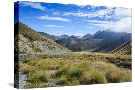 Beautiful Scenery on the Highway around the Lindis Pass, Otago, South Island, New Zealand, Pacific-Michael Runkel-Stretched Canvas Print