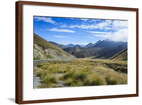 Beautiful Scenery on the Highway around the Lindis Pass, Otago, South Island, New Zealand, Pacific-Michael Runkel-Framed Art Print
