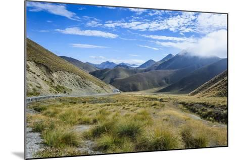 Beautiful Scenery on the Highway around the Lindis Pass, Otago, South Island, New Zealand, Pacific-Michael Runkel-Mounted Photographic Print