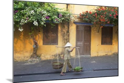 Woman Carrying Vegetables in Street, Hoi An, Quang Nam, Vietnam, Indochina, Southeast Asia, Asia-Ian Trower-Mounted Photographic Print