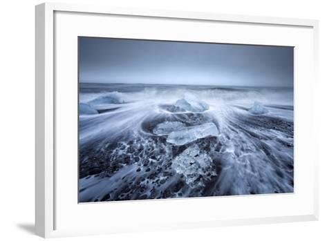 Jokulsa Beach on a Stormy Day-Lee Frost-Framed Art Print