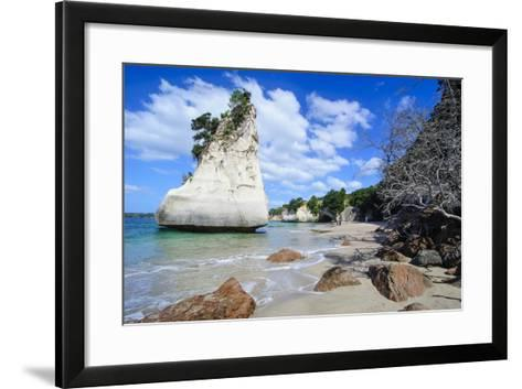 Giant Rock on the Sandy Beach of Cathedral Cove, Coromandel, North Island, New Zealand, Pacific-Michael Runkel-Framed Art Print