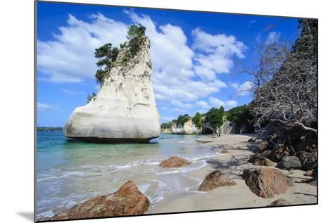 Giant Rock on the Sandy Beach of Cathedral Cove, Coromandel, North Island, New Zealand, Pacific-Michael Runkel-Mounted Photographic Print
