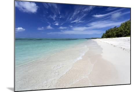 Idyllic Beach Scene with Blue Sky, Aquamarine Sea and Soft Sand, Ile Aux Cerfs-Lee Frost-Mounted Photographic Print