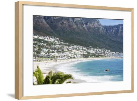 Overview of Clifton Beach with Homes and Mountains in the Bay, Cape Peninsula, Cape Town-Kimberly Walker-Framed Art Print