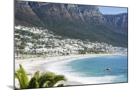 Overview of Clifton Beach with Homes and Mountains in the Bay, Cape Peninsula, Cape Town-Kimberly Walker-Mounted Photographic Print