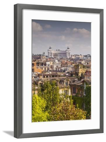 The Rooftops of Rome with Il Vittoriano-Julian Elliott-Framed Art Print