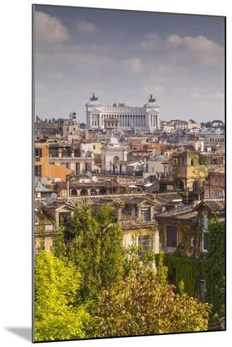 The Rooftops of Rome with Il Vittoriano-Julian Elliott-Mounted Photographic Print